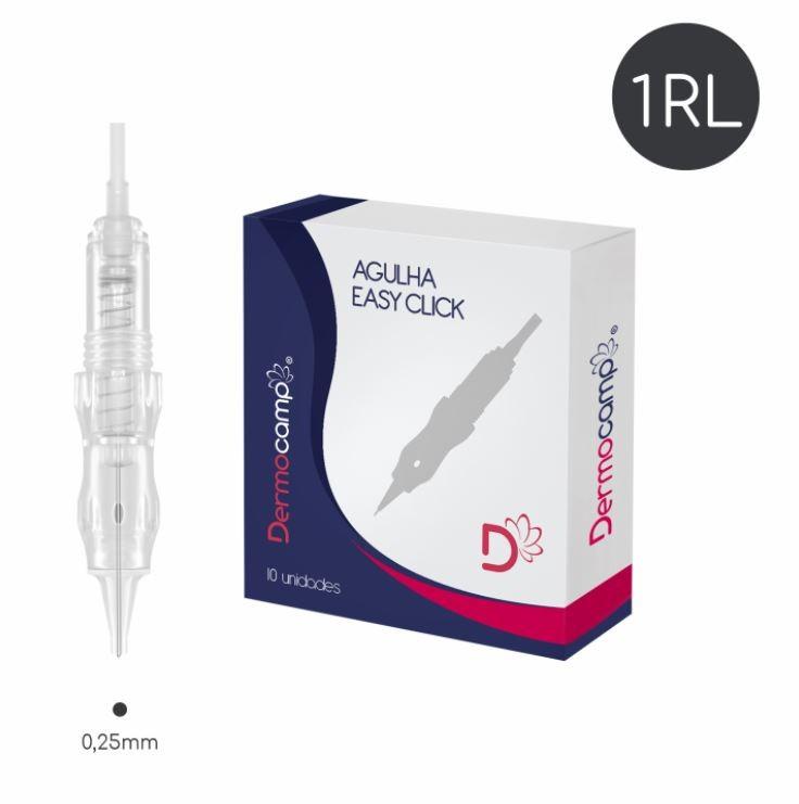 Agulha 1RL Easy Click - 0.25mm - CX com 10 unidades