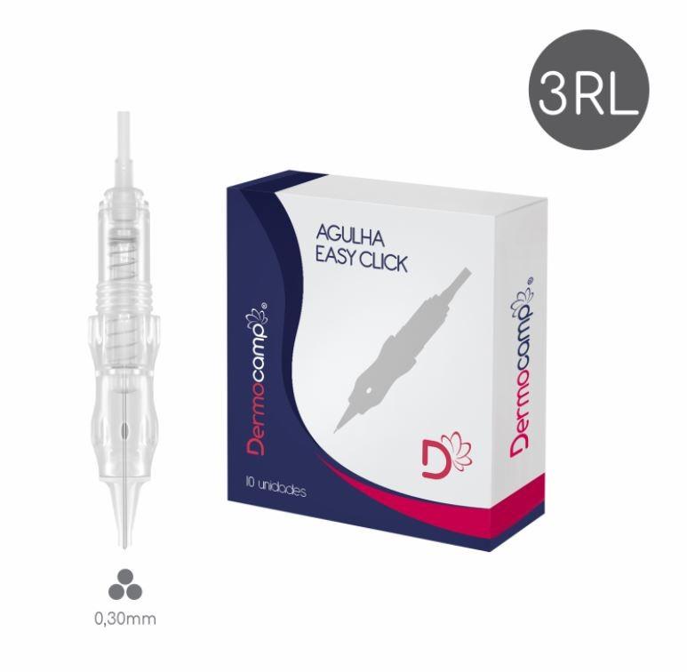 Agulha 3RL Easy Click - 0.30mm - CX com 10 unidades