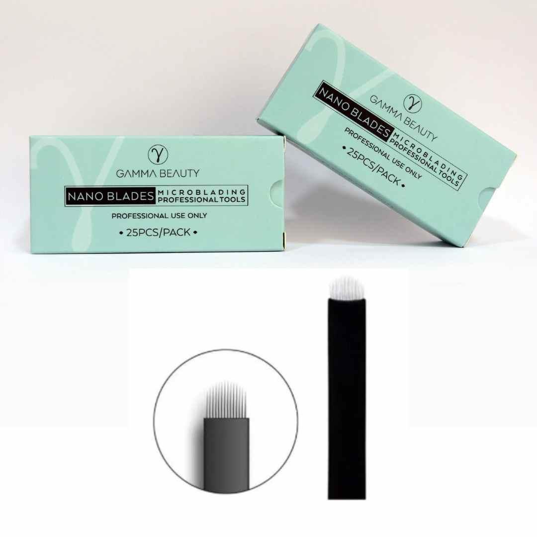 Lâmina Nano Gamma Beauty 18U Flex - 0.15mm - Caixa com 25un