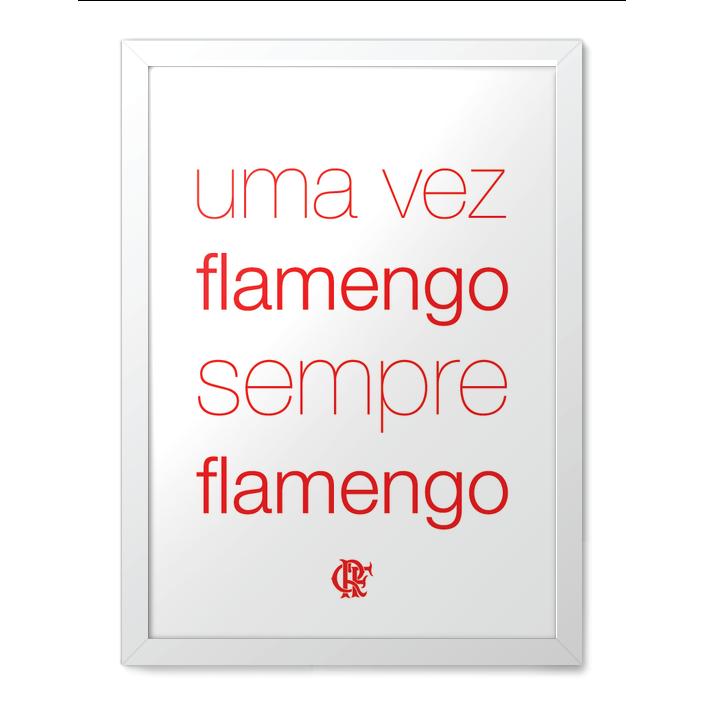 46a3f81357746 Quadro Hino Flamengo - branco - Futzera