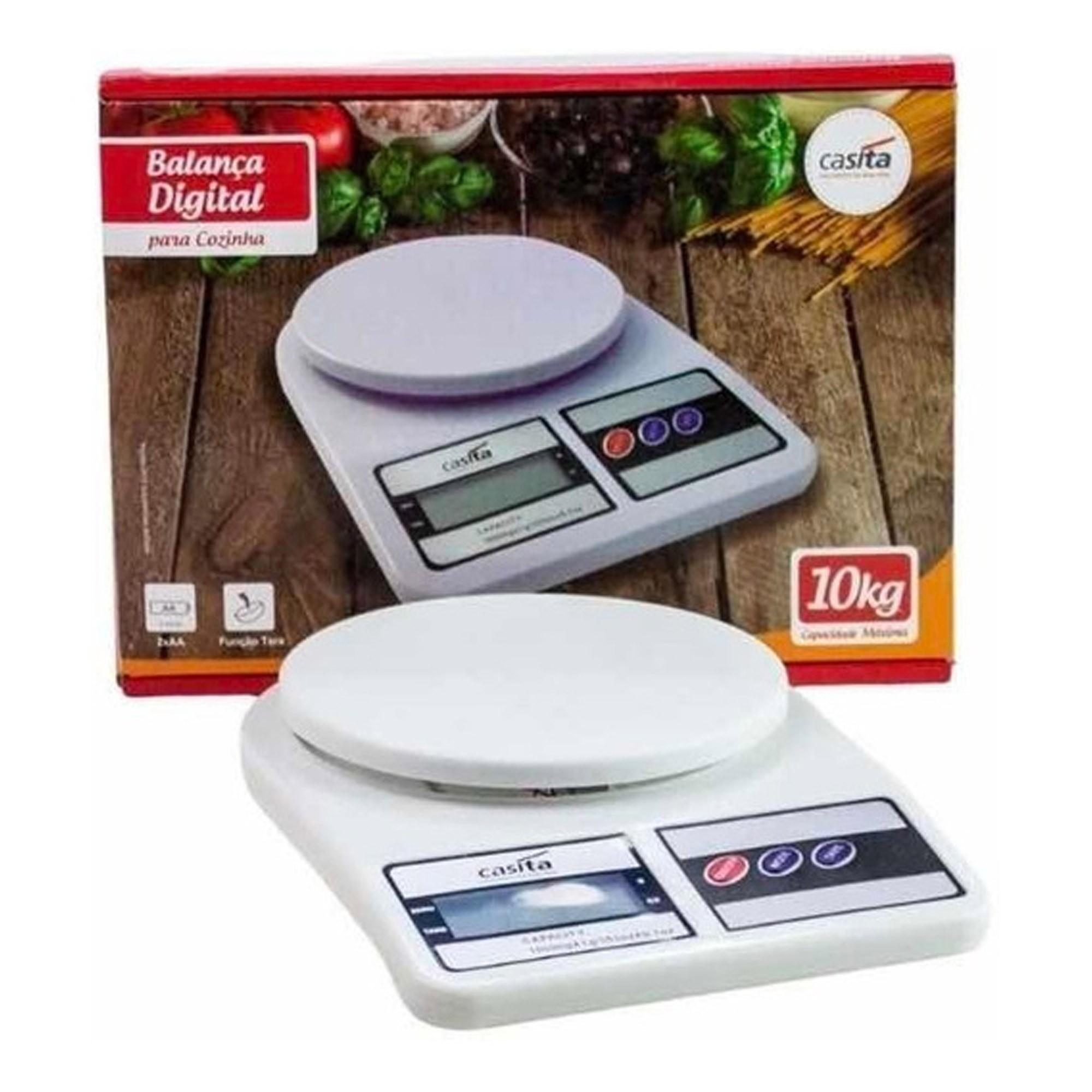 Balança Digital Cozinha Doméstica Alta Precisão 10Kg - Casita