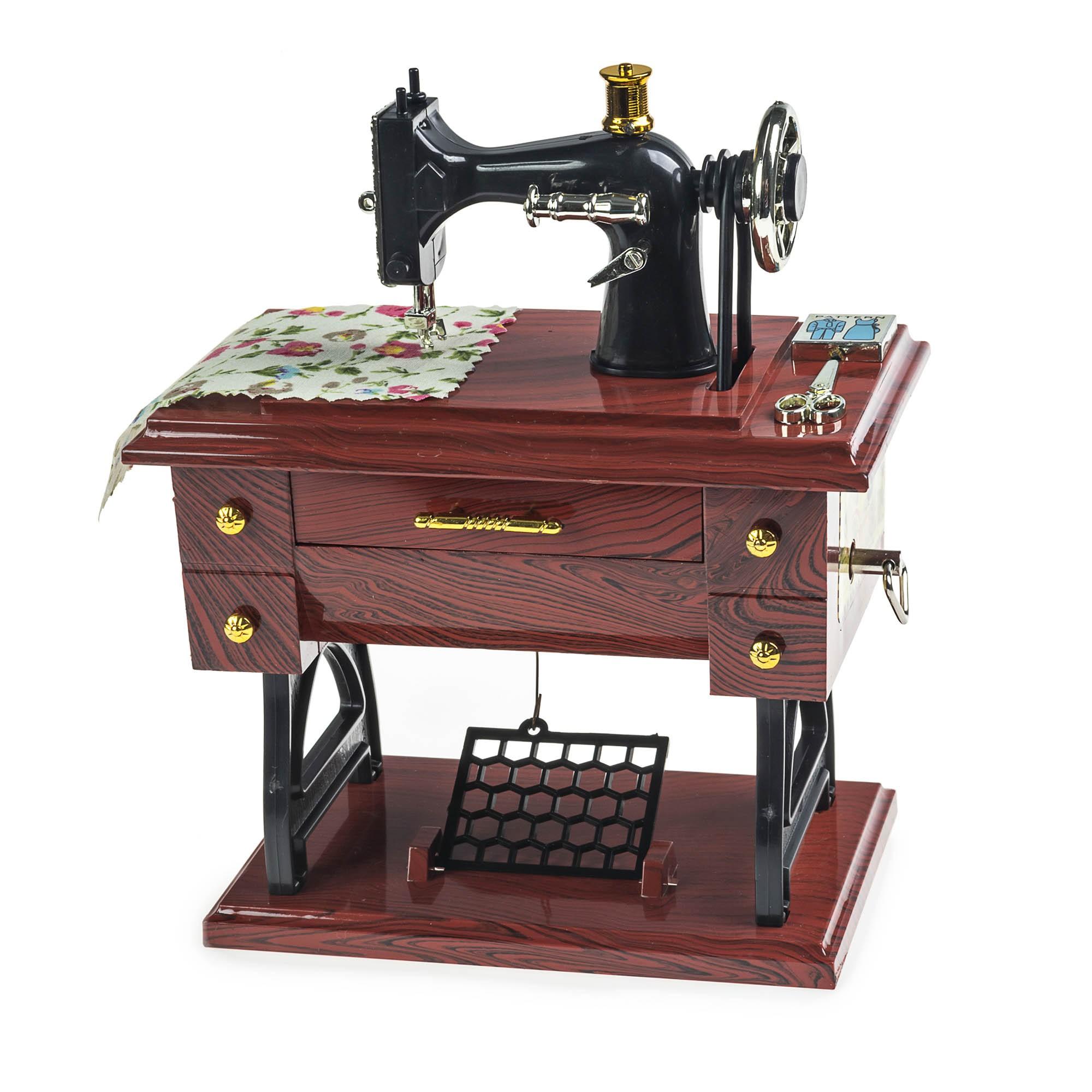 Caixinha De Música Porta Joias Miniatura Máquina De Costura