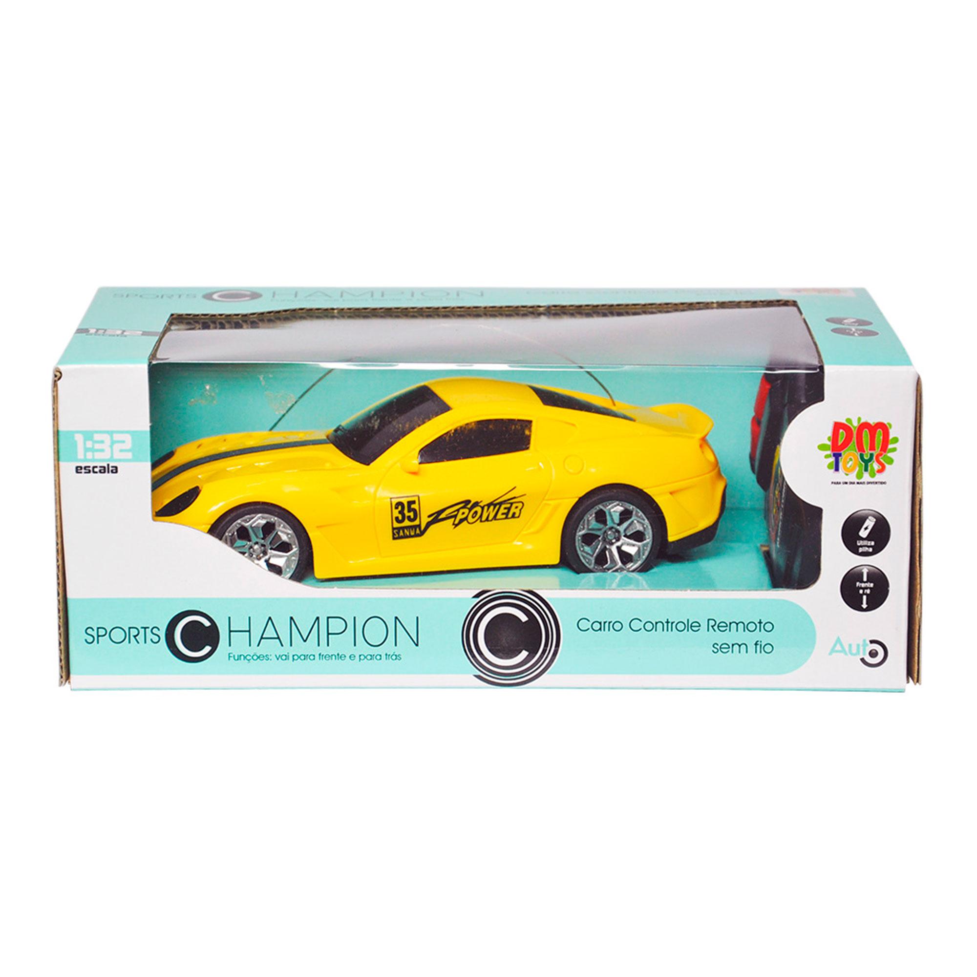 Carrinho Controle Remoto Porsche Esportivo Amarelo