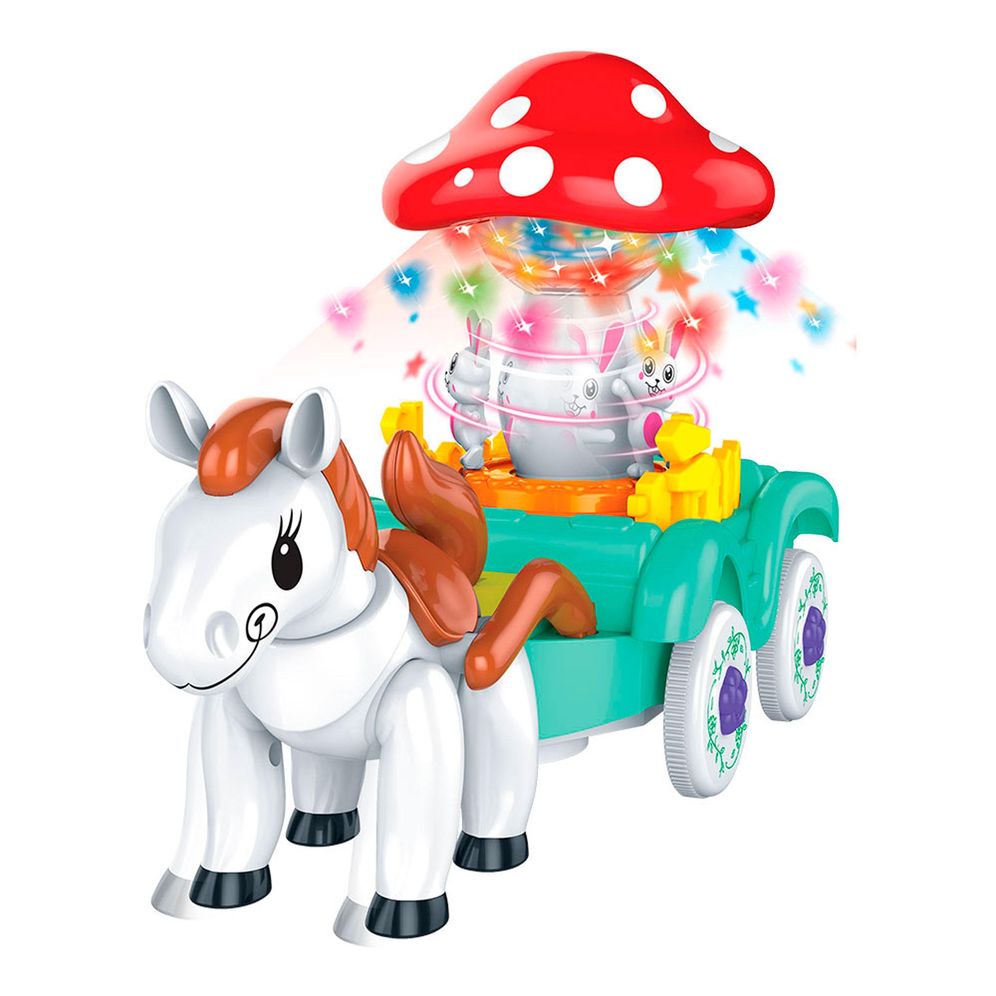 Carruagem Bate e Volta Brinquedo Infantil C/ Luz E Som