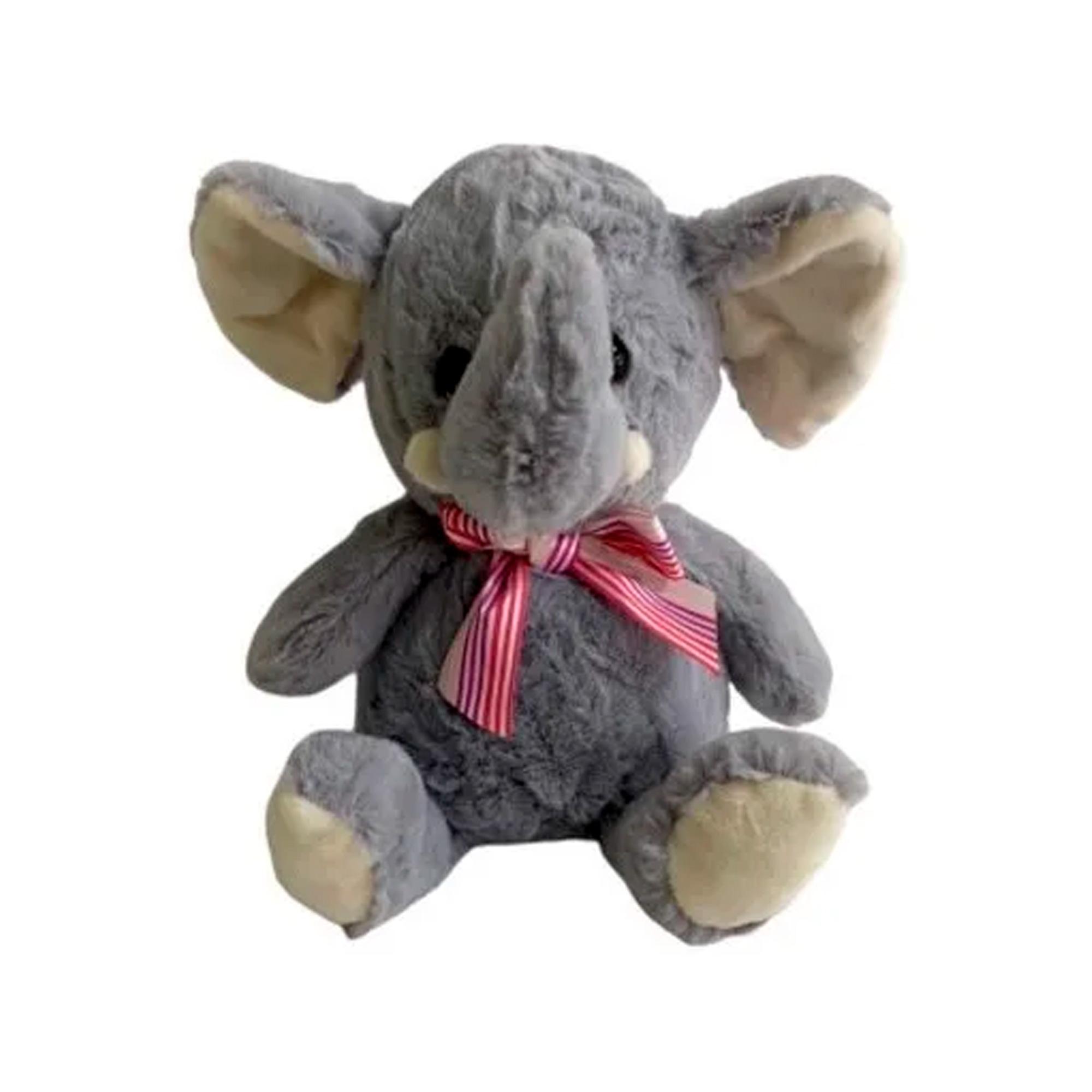 Elefante de Pelúcia 19cm Sentado