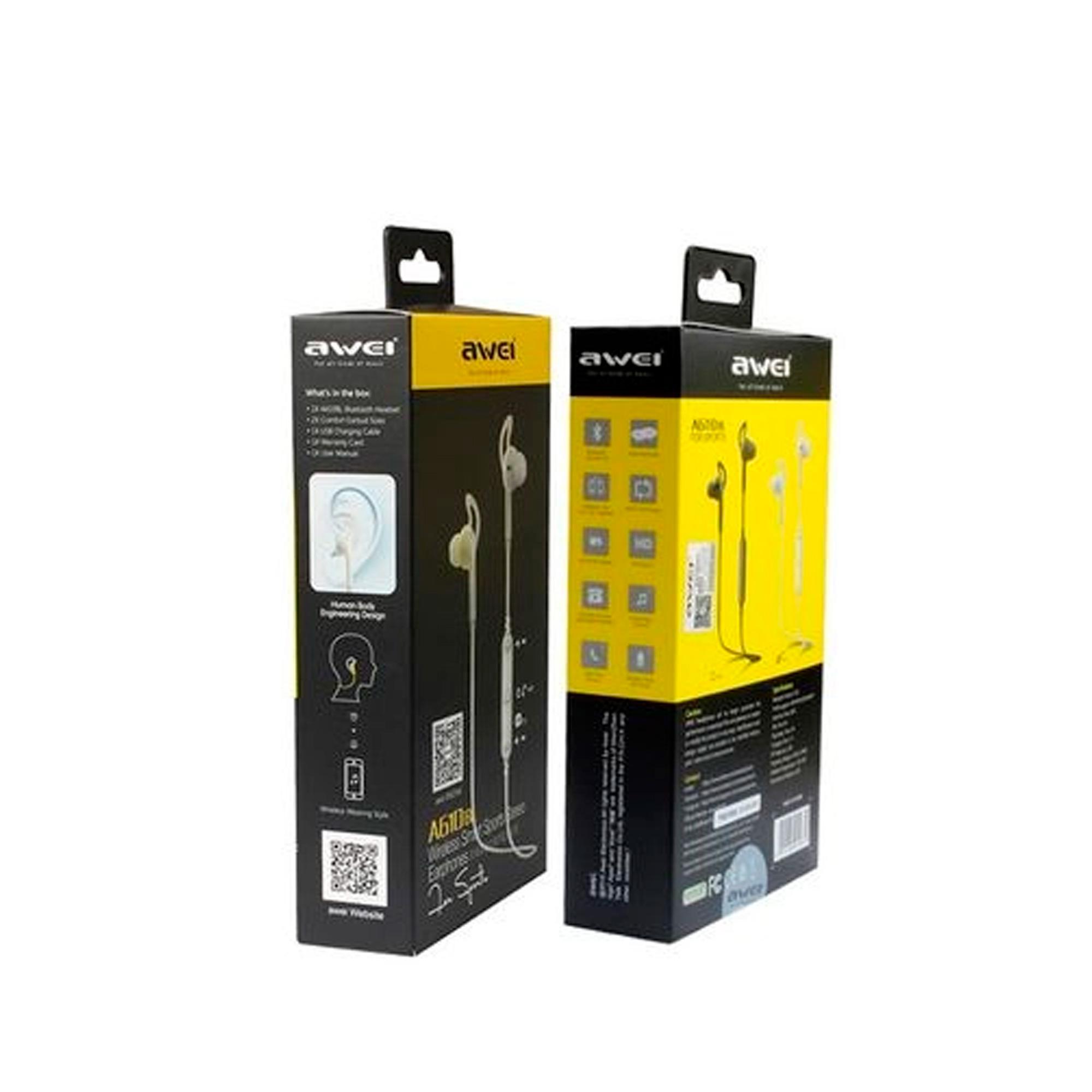 Fone de Ouvido Sem Fio Bluetooth Awei A610BL In-Ear Esportivo