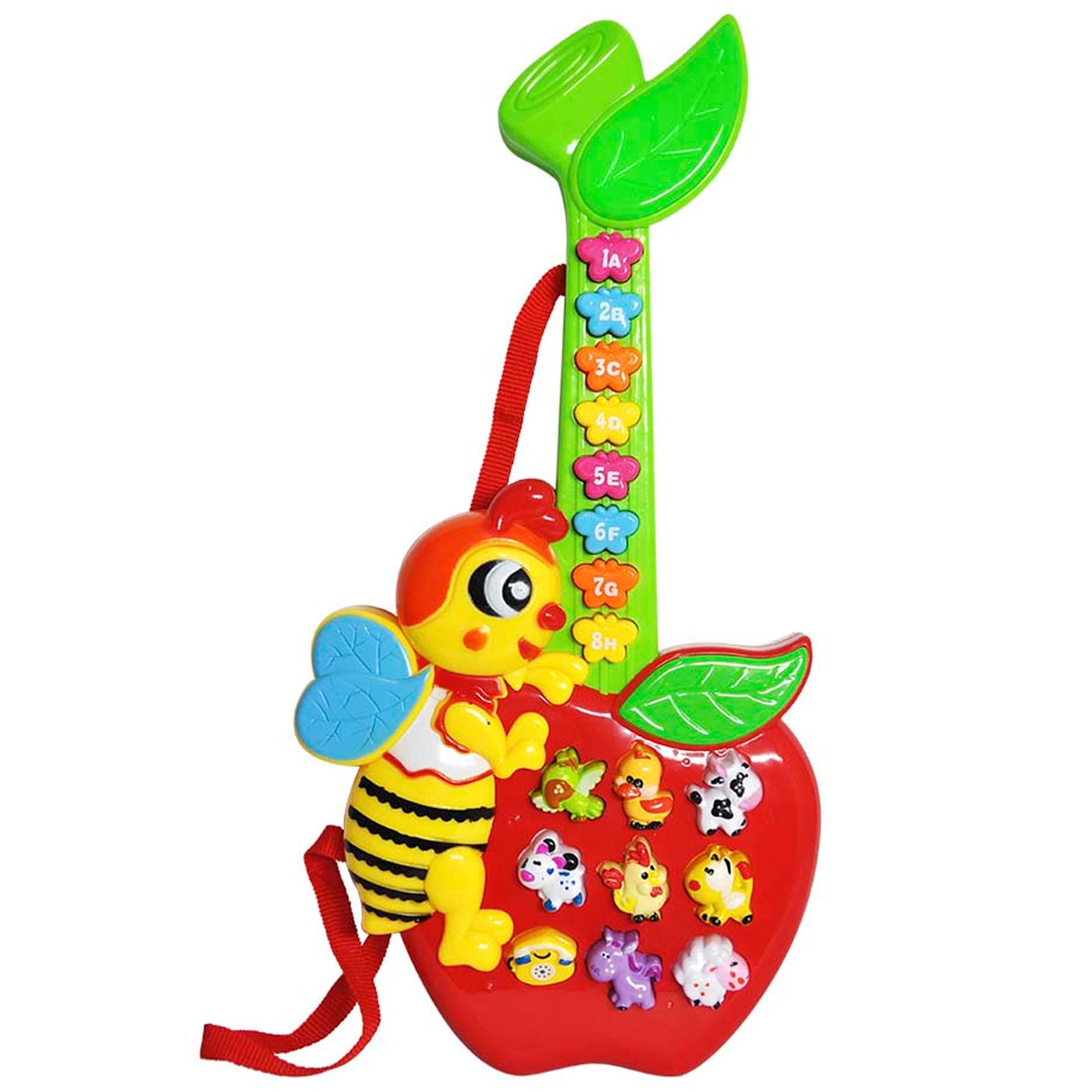 Guitarrinha Abelha Musical Infantil C/ Luz e Som