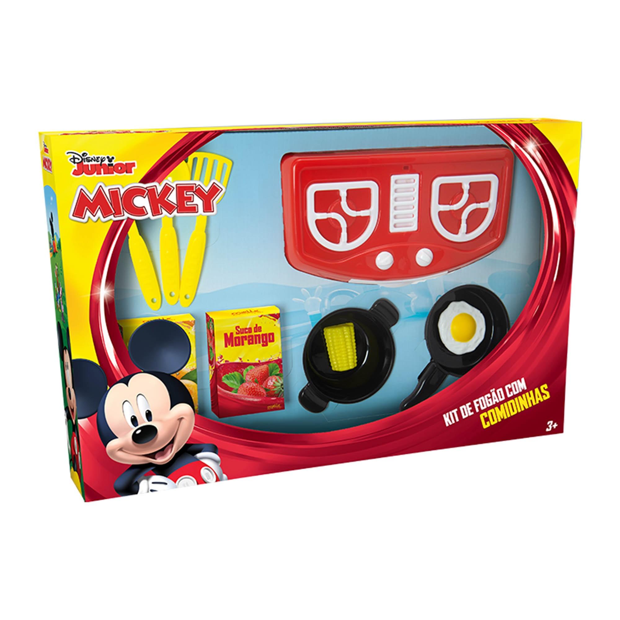Kit Cozinha Infantil Fogãozinho Panelinhas Mickey Disney - Mielle