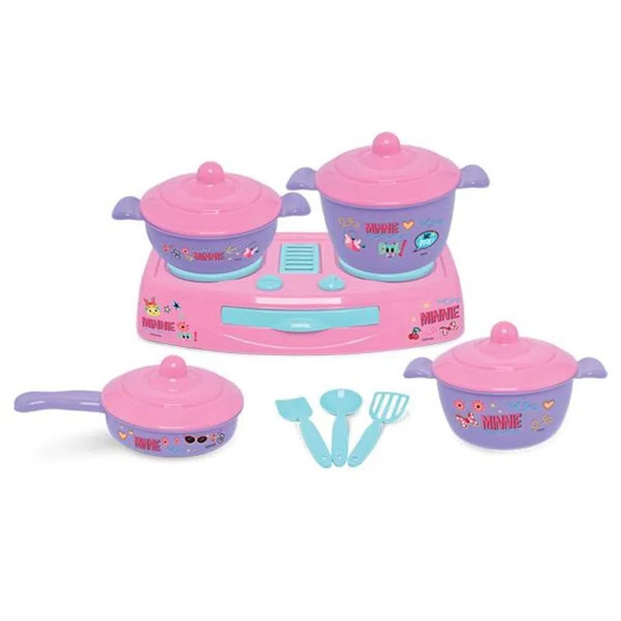 Kit Cozinha Infantil Fogãozinho Panelinhas Minnie Disney - Mielle