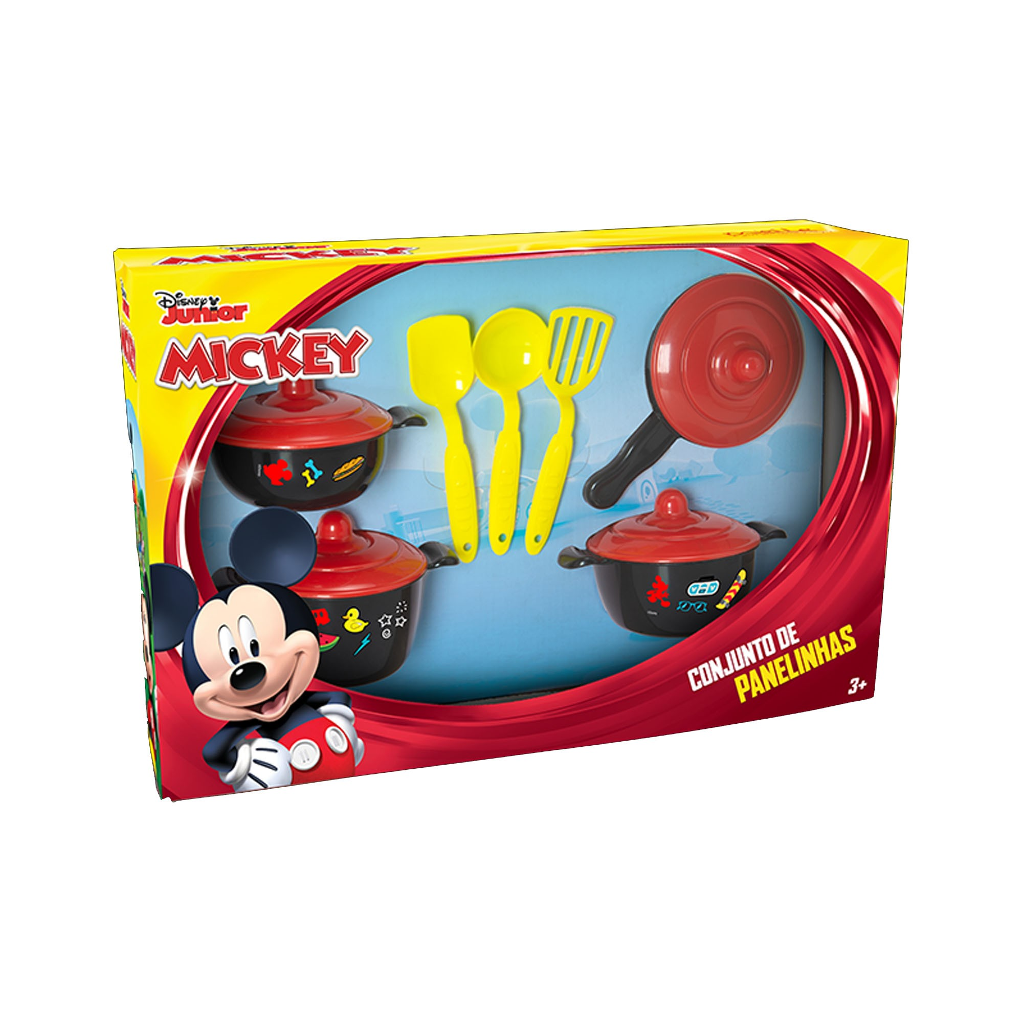 Kit Cozinha Infantil Panelinhas Talheres Mickey Disney - Mielle