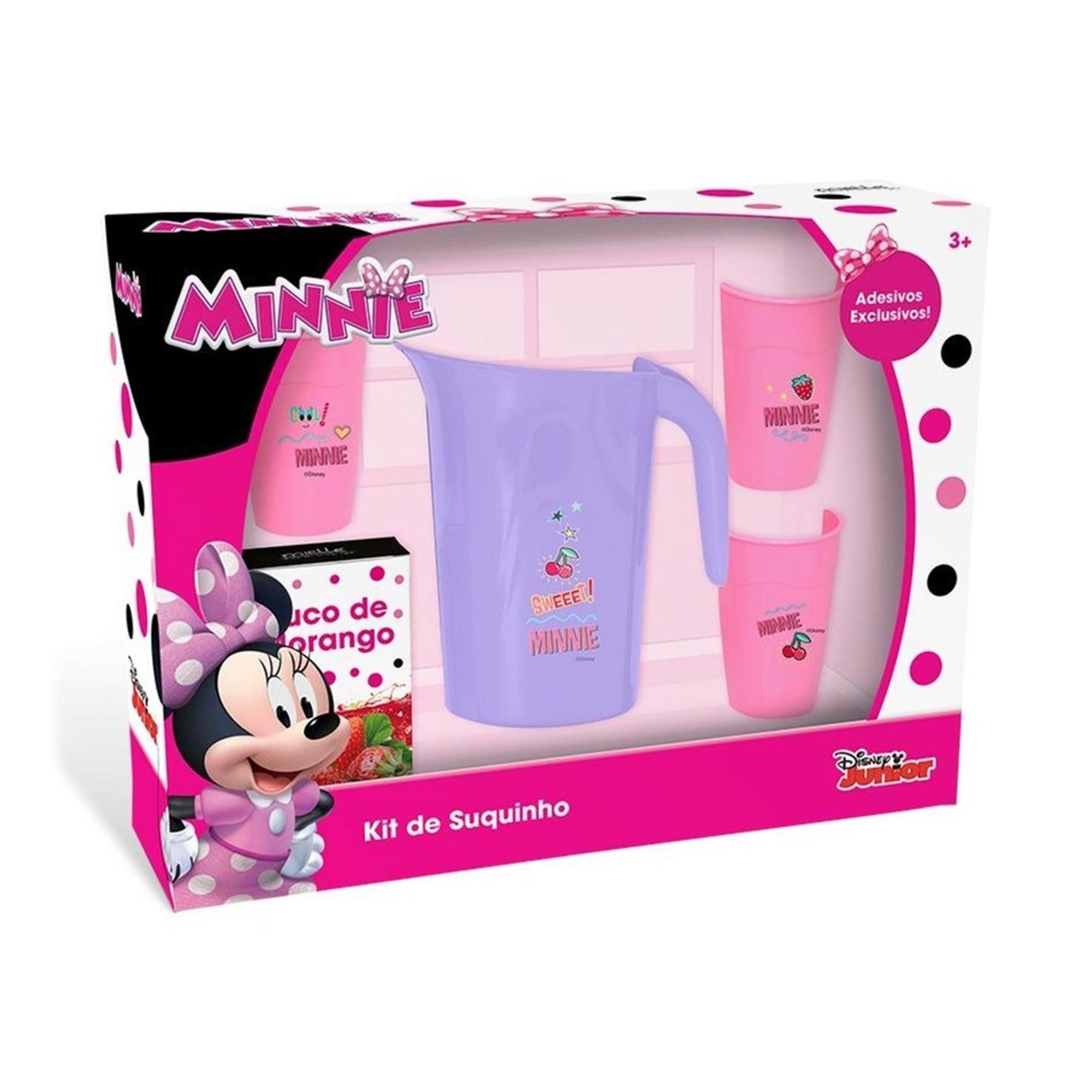 Kit Suquinho Infantil Jarrinha e Copos Minnie Disney - Mielle