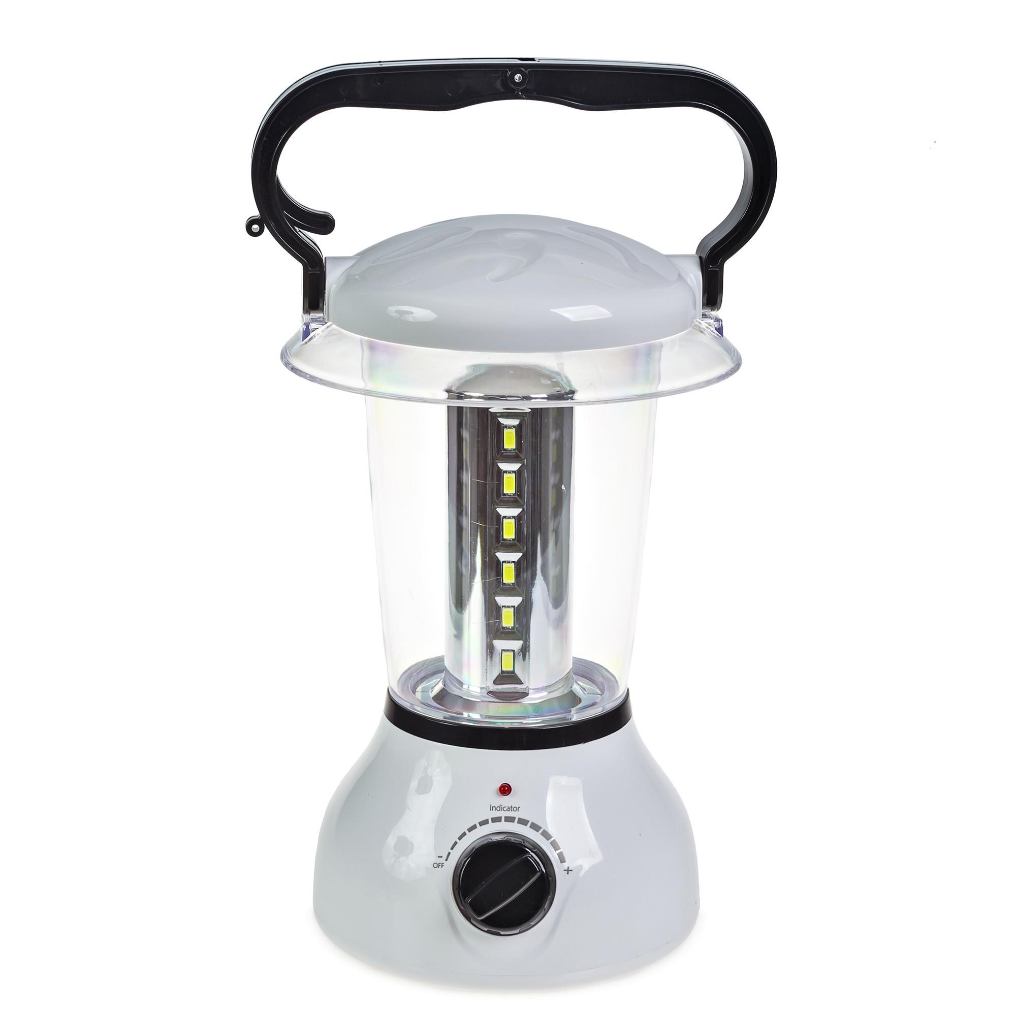Lanterna Lampião Recarregável 24 Leds Bivolt Entrada Para Carregador Solar - Alfacell