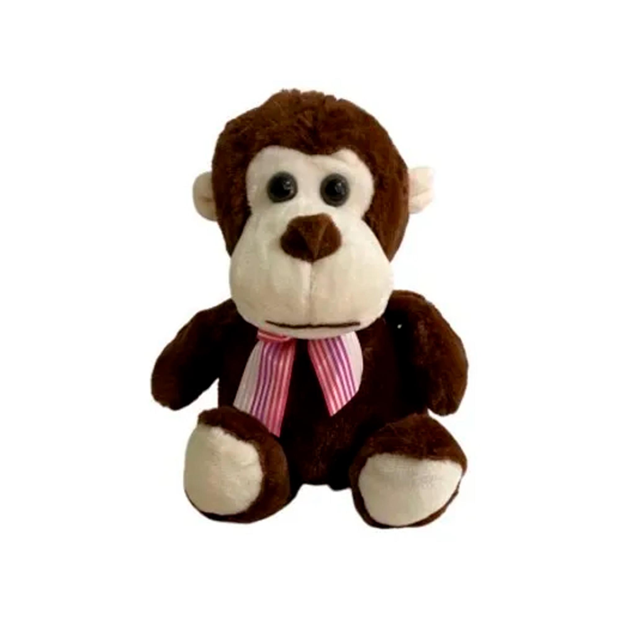 Macaco de Pelúcia 19cm Sentado