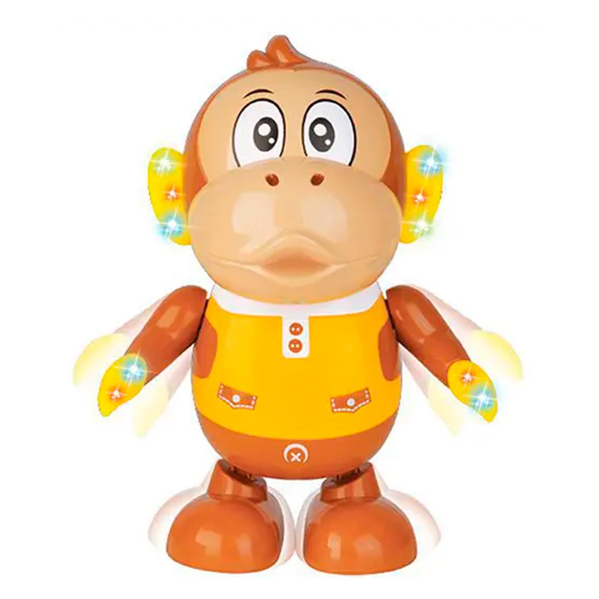 Macaco Zé Dançarino Brinquedo Infantil Musical C/ Luz E Som