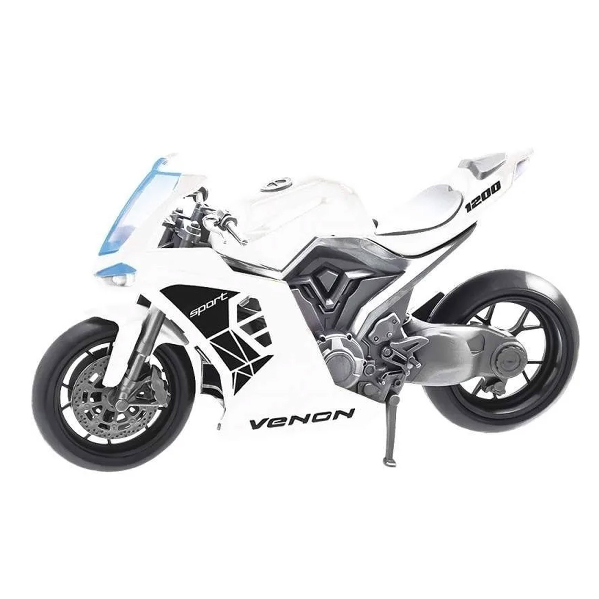 Moto Venon 1200 Sport Branco - Usual Brinquedos