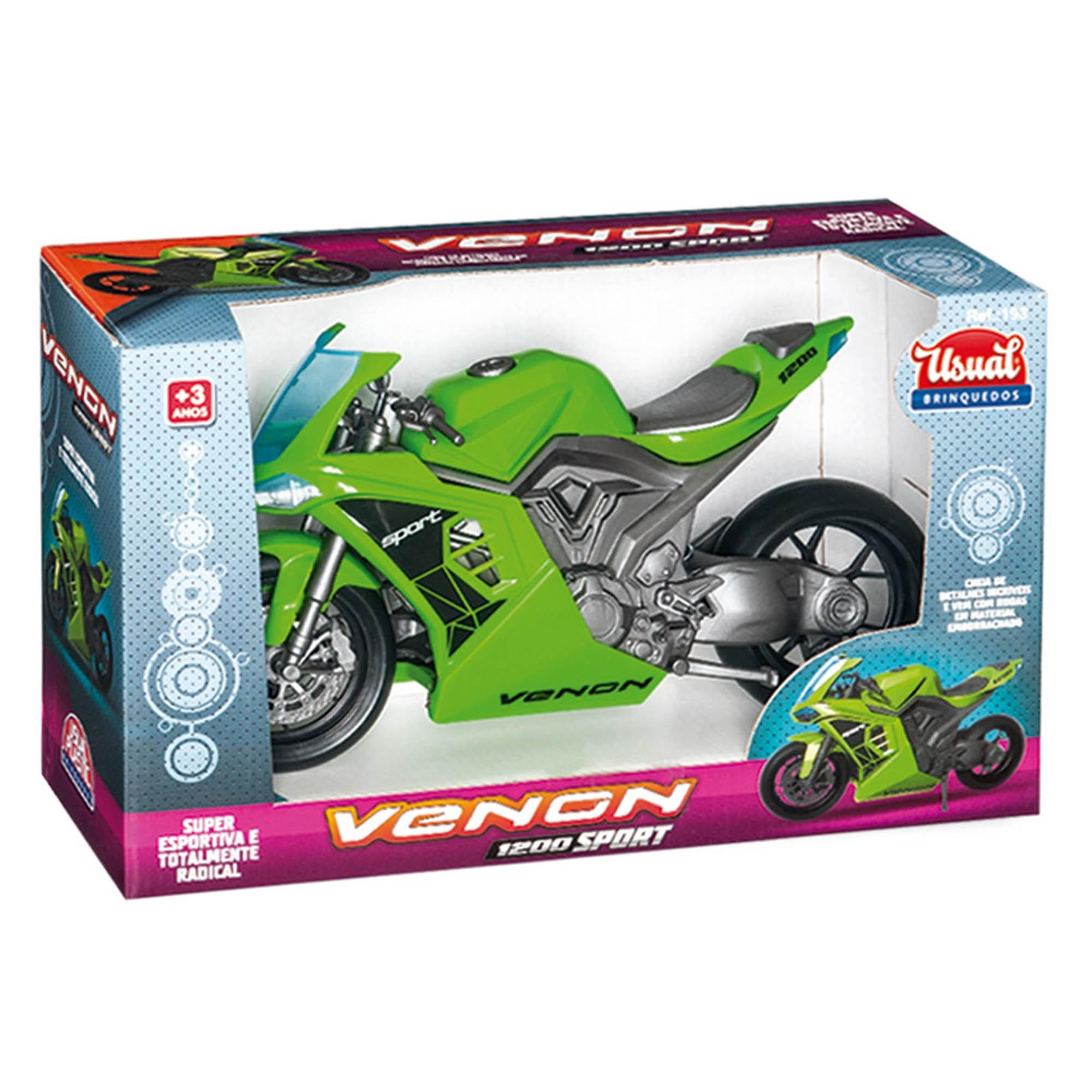Moto Venon 1200 Sport Verde - Usual Brinquedos