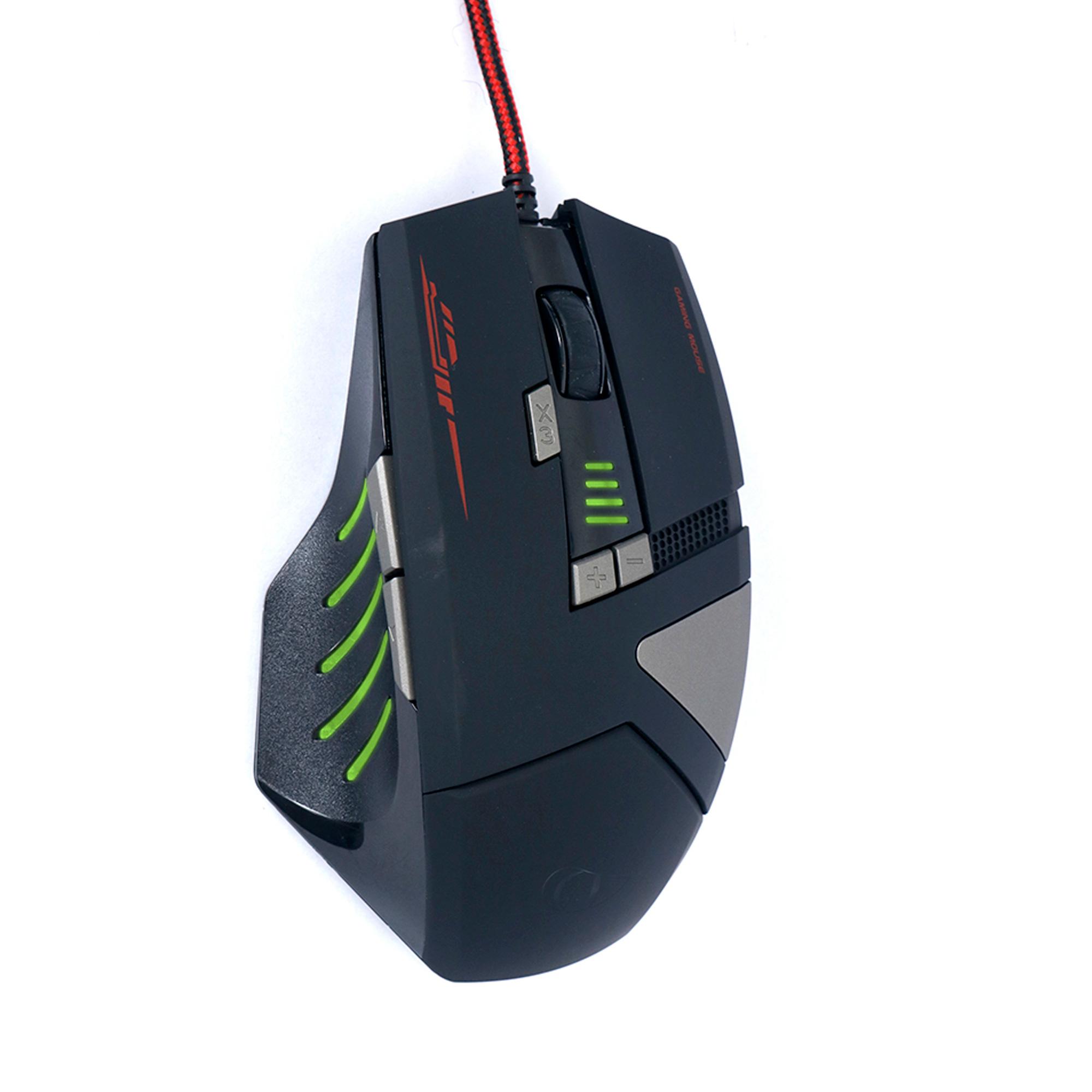 Mouse Gamer Leadership Iron 8 Botões 4000 DPI USB LED