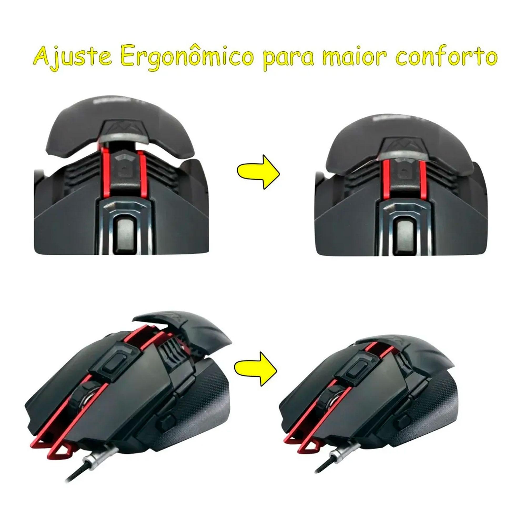 Mouse Gamer Leadership Scorpion 7 Botões 4000 DPI Ajustável