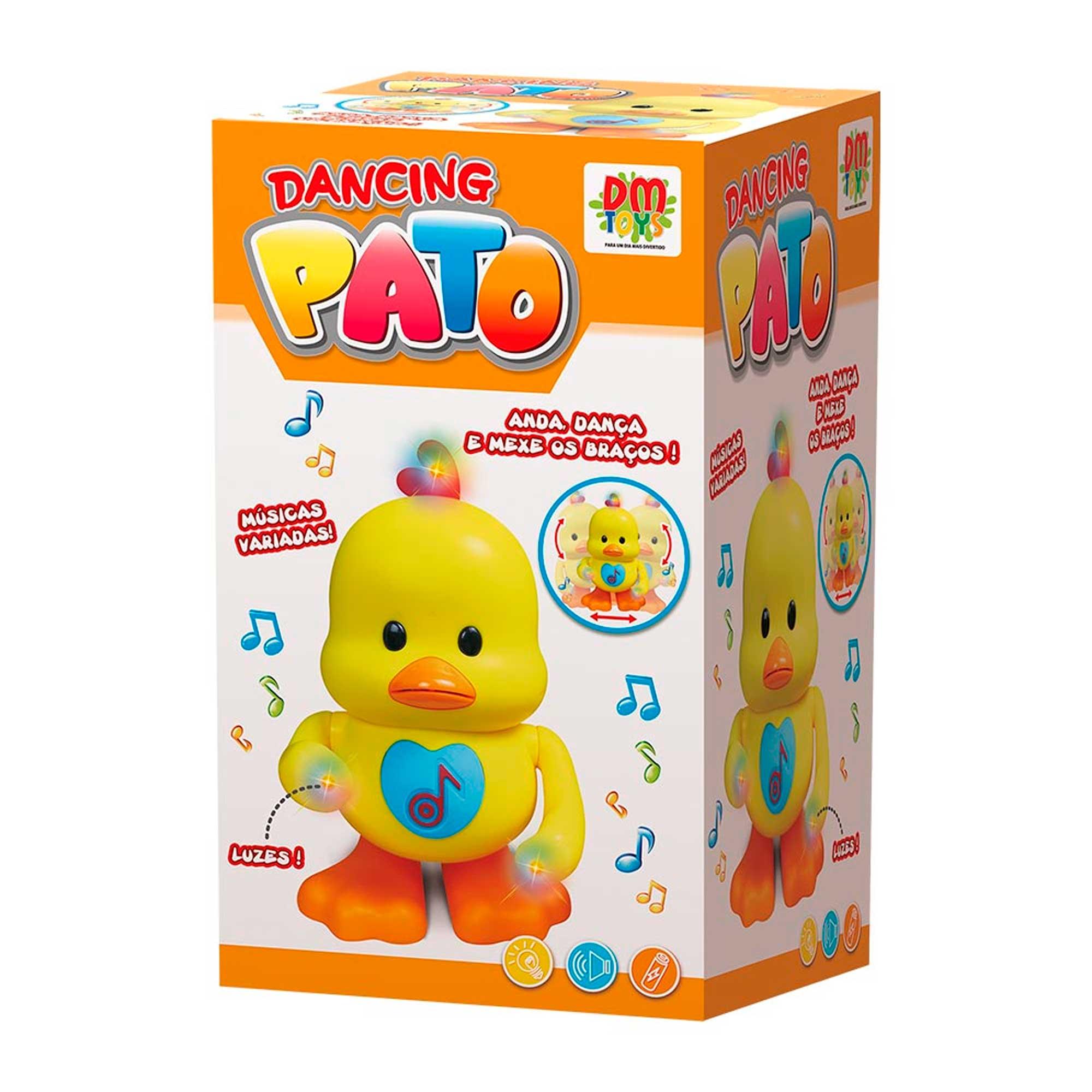 Pato Dançante Brinquedo Musical C/ Luz E Som