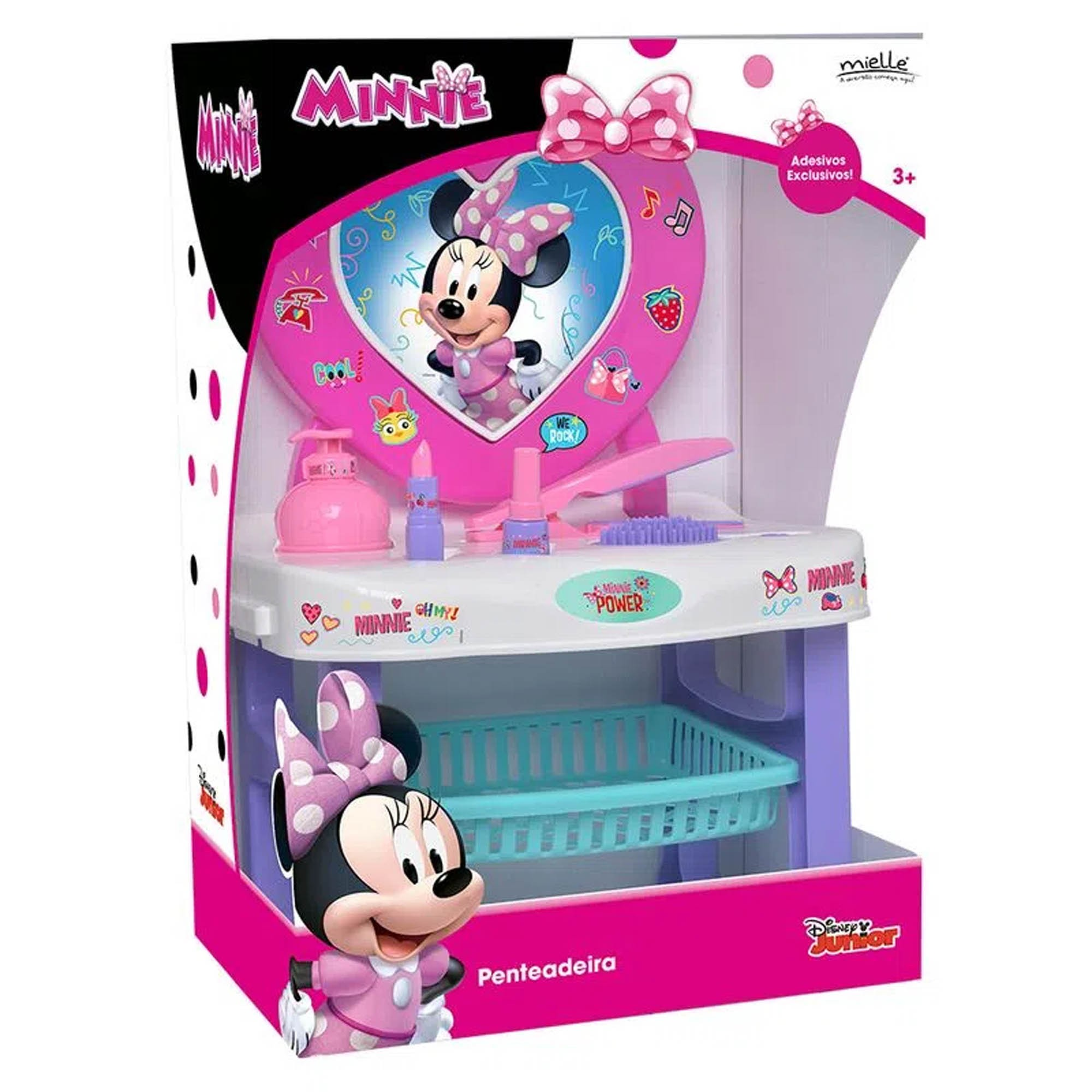 Penteadeira de Maquiagem e Beleza Infantil Minnie Disney - Mielle