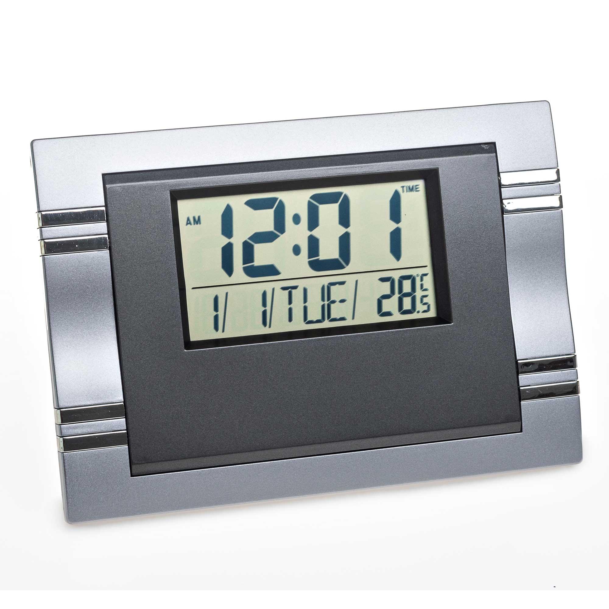 Relógio Despertador de Parede Mesa Digital Data Temperatura MJ6605