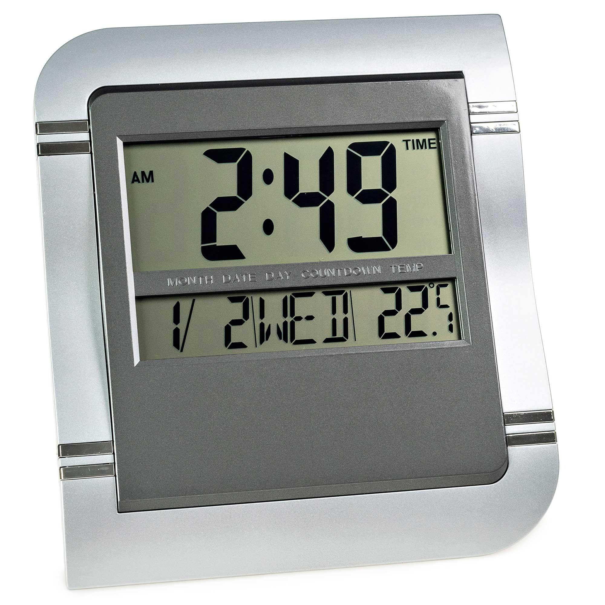 Relógio Despertador de Parede Mesa Digital Data Temperatura MJ8058