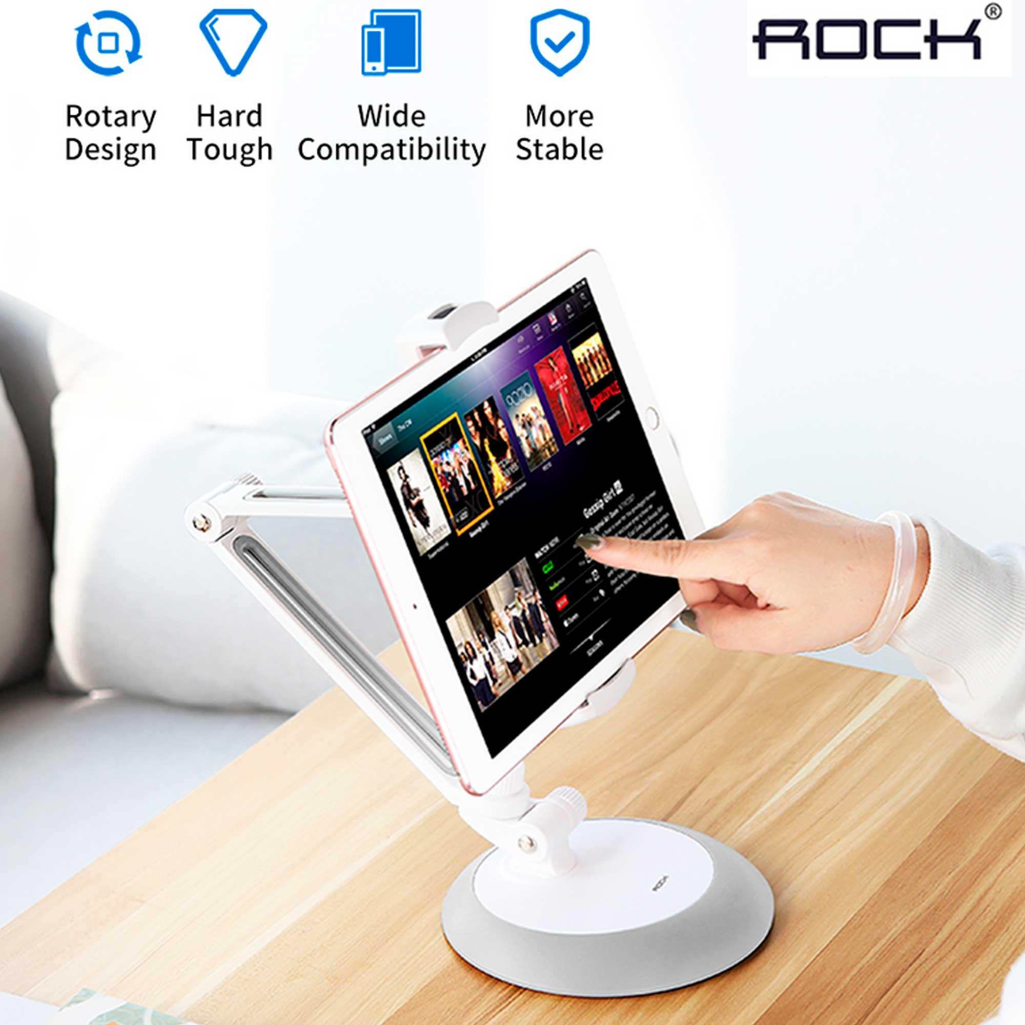 Suporte Base De Mesa Celular Tablet Ajustável Rock