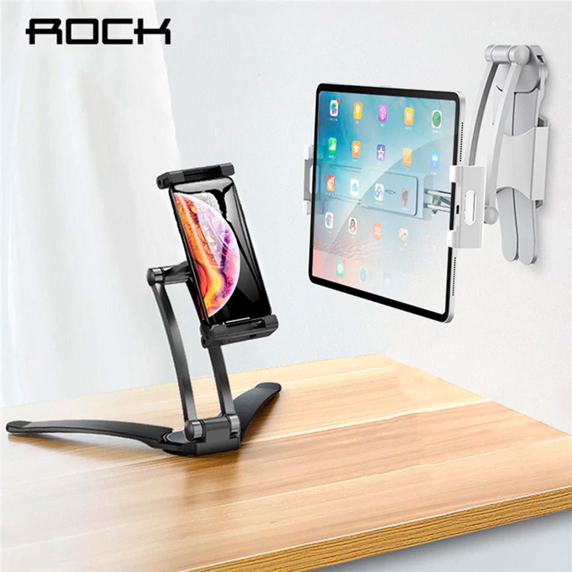 Suporte Base De Mesa E Parede Celular Tablet Ajustável Rock