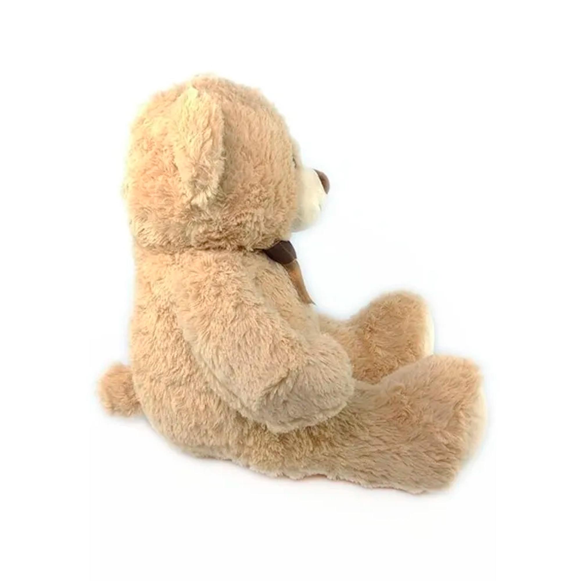 Urso de Pelúcia Bege 31cm Sentado