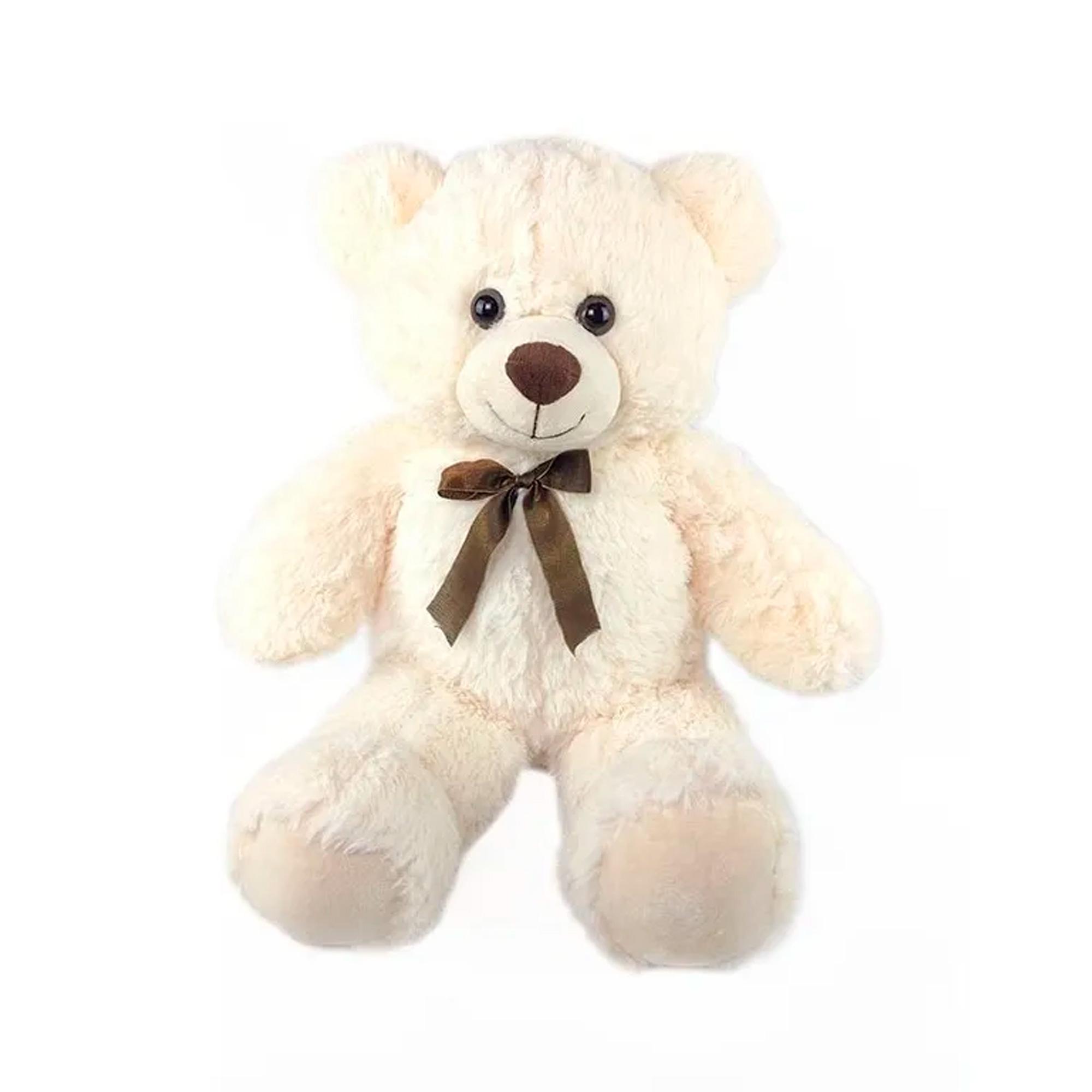 Urso de Pelúcia Creme 31cm Sentado