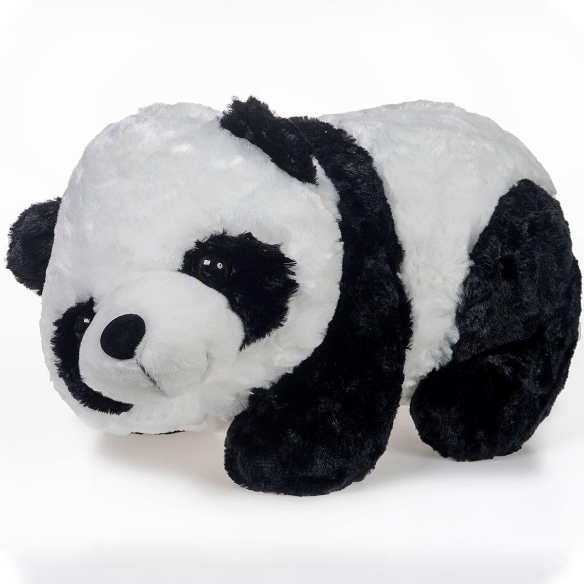 Urso Panda de Pelúcia Deitado 40cm