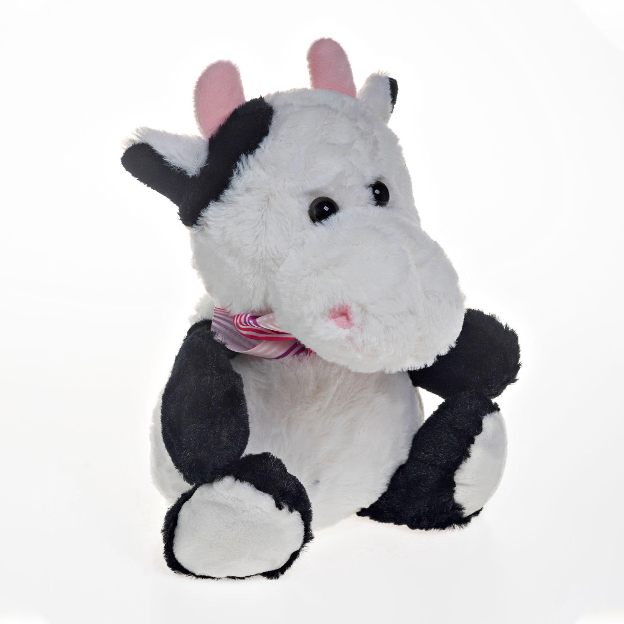 Vaca de Pelúcia 19cm Sentado