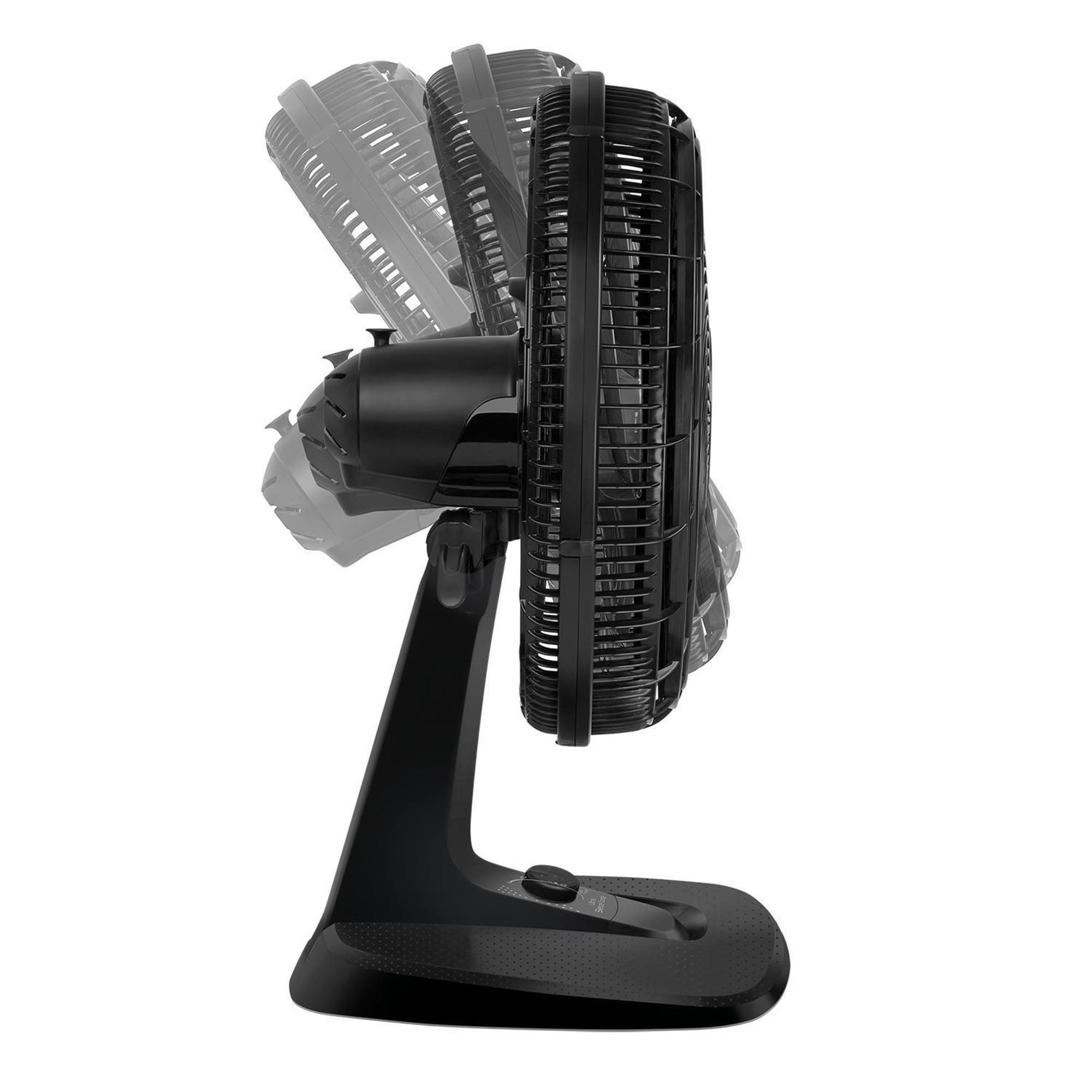Ventilador de Mesa Arno VD40 Ultra Silence Force, 40 cm, 3 Velocidades, Preto 110V