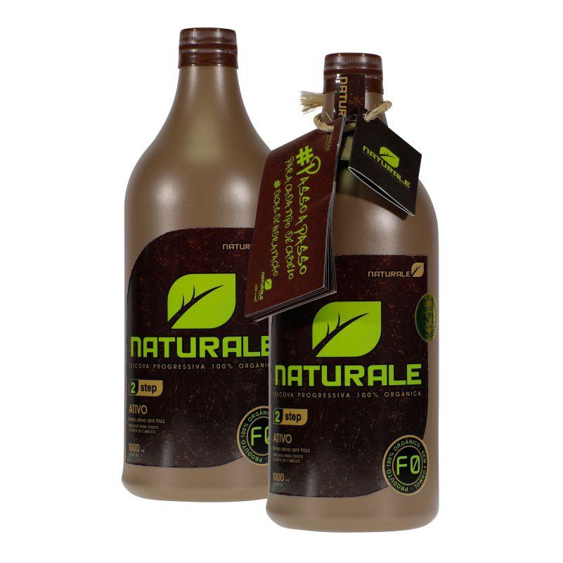Progressiva Orgânica Naturale 100% Natural Com Macadâmia e Tamarindo Alisa e Hidrata - Sem Formol - 2x1L