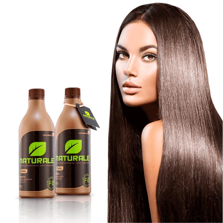 Progressiva Orgânica Naturale 100% Natural  Com Tamarindo e Macadâmia Alisa Hidrata- Sem Formol - 2x500ml