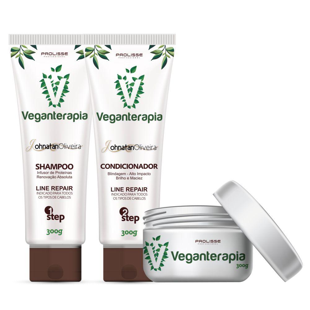 Veganterapia kit Home Care Prolisse 3x300g