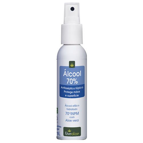 Álcool 70% - 100ml - Live Aloe