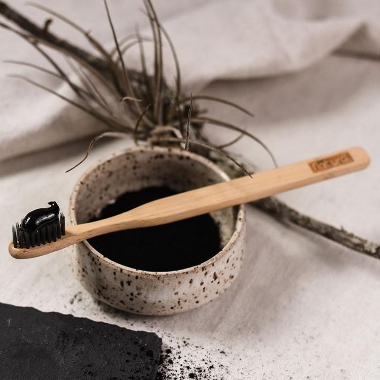 Escova Natural Bambu e Carvão