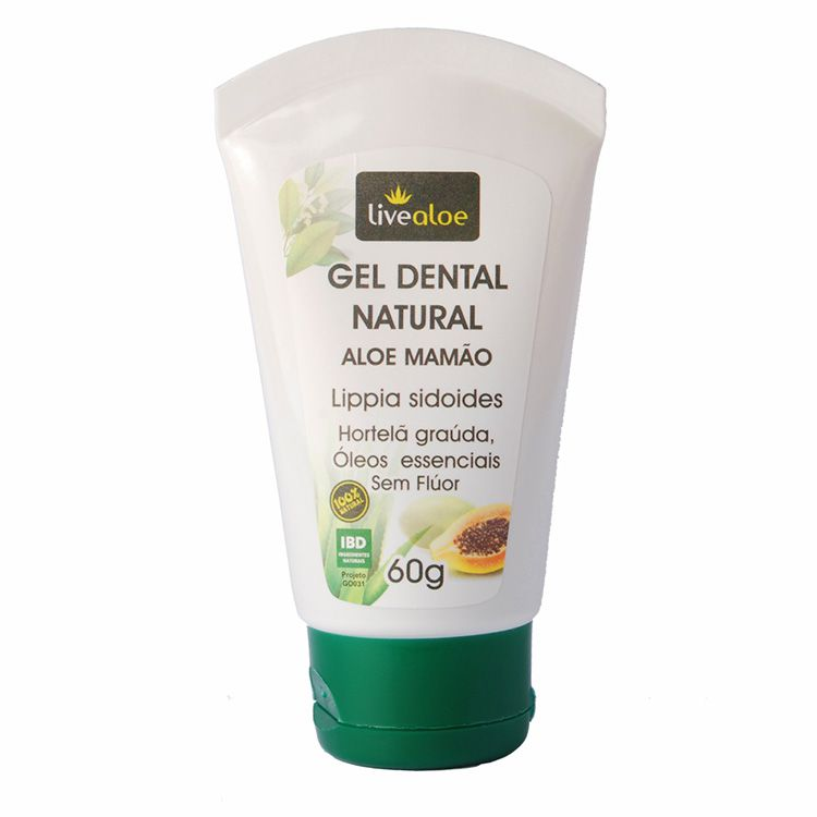 GEL DENTAL NATURAL ALOE MAMÃO 60G