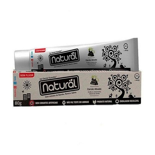 Gel Dental Natural de Carvão 80g