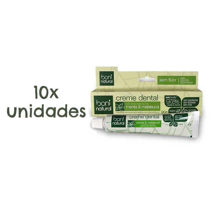 Kit Creme Dental Menta e Melaleuca (10 unidades)