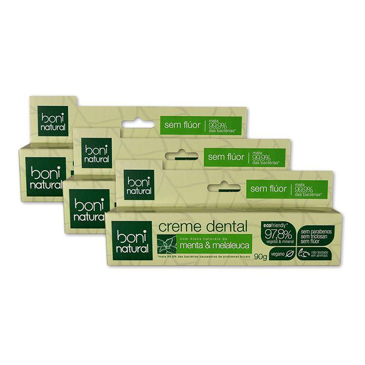 Kit Creme Dental Menta e Melaleuca (3 unidades)