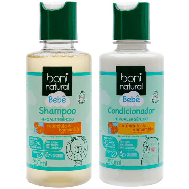 Kit Shampoo e Condicionador Bebê - Boni Natural