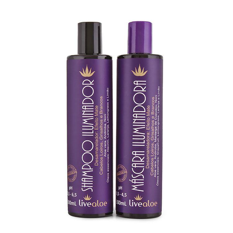 Kit Shampoo e Máscara Iluminadora Aloe Vera - Live Aloe