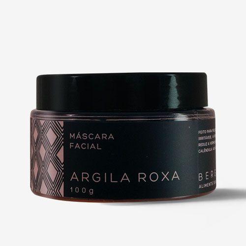 Máscara Facial de Argila Roxa - Bergamia