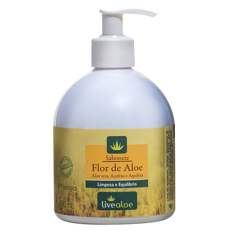 Sabonete Flor de Aloe 480ml - Live Aloe
