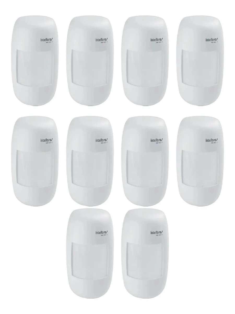 10 Sensor Infra Alarme Com Fio Ivp 3000cf Intelbras