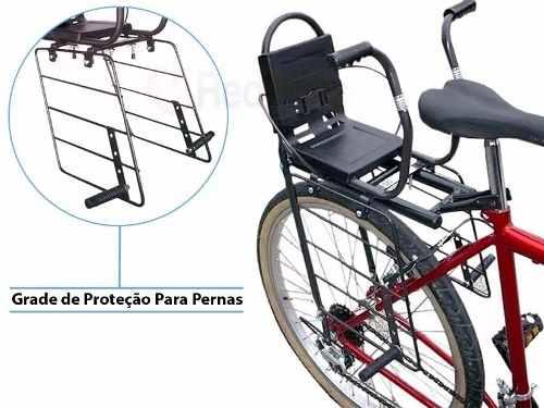 Cadeirinha Para Bagageiro De Bicicleta Com Proteções Para Pernas Al-17
