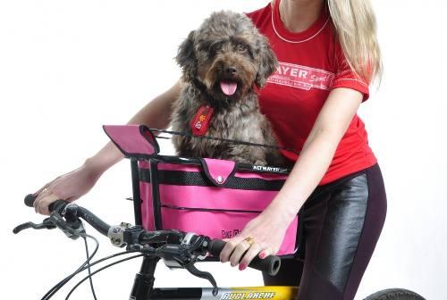 Cadeirinha Cachorro Bike Dog Full Cestinha Pink Altmayer