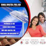 Antena Digital Amplificada Uhf Vhf Fm Capte Diamante Externa